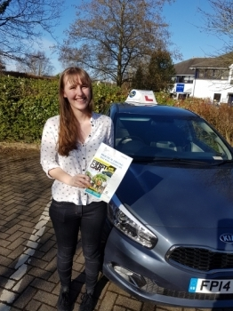 A big well done to Cait who passed her test today Congratulations and safe driving