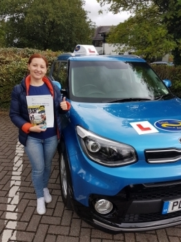 A big well done to Ana for passing her UK test today for the first time. Ana already had her licence in Moldova but spent time learning UK rules and on the other side of the road. Well done Ana, safe driving and thanks for choosing Drive to Arrive.