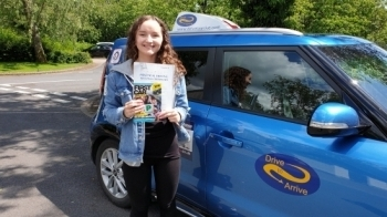 A massive well done to Lucy who passed her test today, first time. Congratulations and enjoy your new freedom. Thanks for choosing Drive to Arrive.